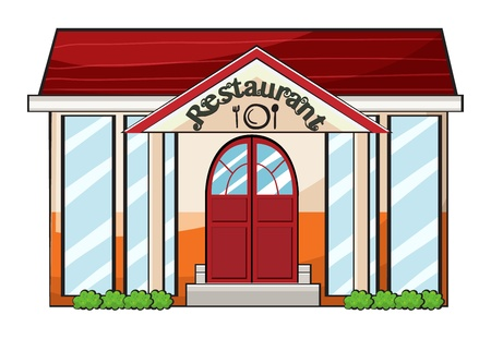 cartoon dinner: Illustration of a restaurant on a white background Illustration