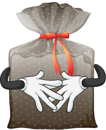 Illustration of a pouch on a white background