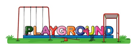 Illustration of a playground on a white background Vector