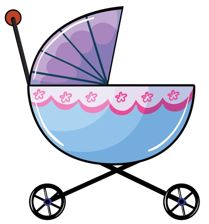 Illustration of a baby buggy on a white background Vector