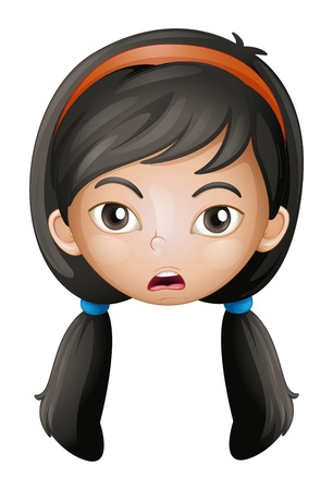 naughty girl: Illustration of a face of a girl on a white background Illustration