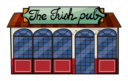 Illustration of an Irish pub on a white  background Vector