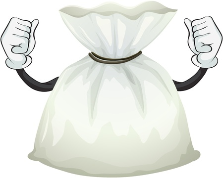pouch: Illustration of a pouch bag on a white background Illustration