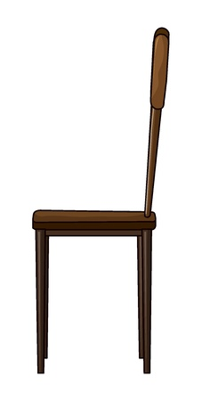 chair wooden: Illustration of a chair on a white background