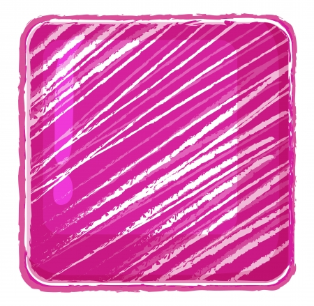 bewildered: Illustration of a pink abstract on a white background Illustration