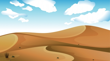 Illustration of a desert with a clear blue sky Stock Vector - 17358116