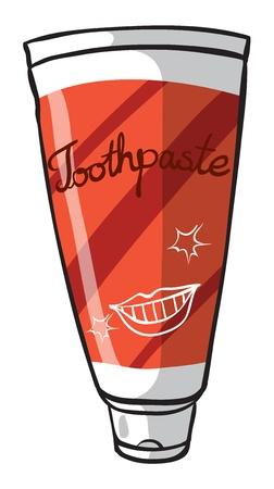 regimen: Illustration of a toothpaste on a white background Illustration