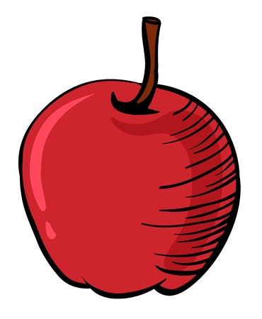 beneficial: Illustration of a red apple on a white background