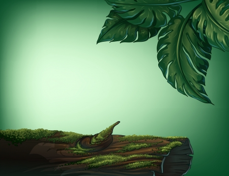 Illustration of a trunk covered with algae Vector