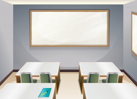 empty classroom: Illustration of an empty classroom