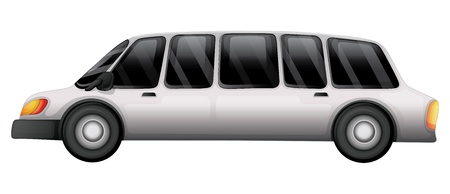 Illustratie van een auto met een getint glas op een witte achtergrond