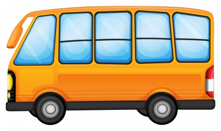 cartoon bus: Illustration of a big bus on a white background