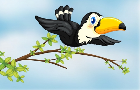 Illustration of a flying bird Vector