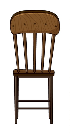 Illustration of a chair on a white background Stock Vector - 17358024
