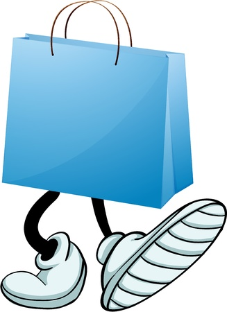 prolific: Illustration of a gift bag with feet on a white background Illustration