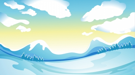 Illustration of a freezy surrounding Stock Vector - 17358069