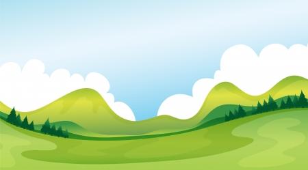 Illustration of a green landscape Stock Vector - 17383803
