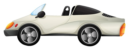 Illustration of an elegant sports car on a white background Vector