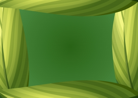 beautify: Illustration of a green leafy border on a green background Illustration