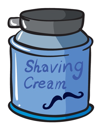 shave: Illustration of a shaving cream on a white background