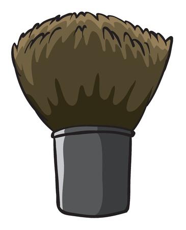 regimen: Illustration of a hard cleaning brush on a white background