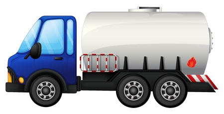fuel truck: Illustration of a fuel car on a white background