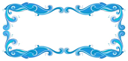 beautify: Illustration of a blue unique border on a white background Illustration
