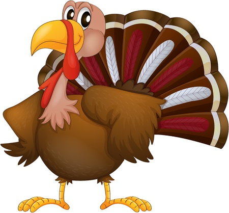 Illustration of an angry turkey on a white background Illustration
