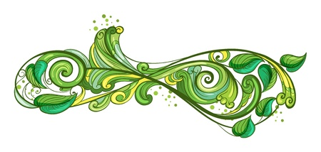 elliptic: Illustration of uniquely shaped leaves on a white background