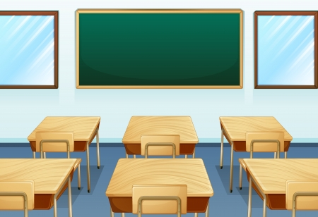class room: Illustration of an empty room