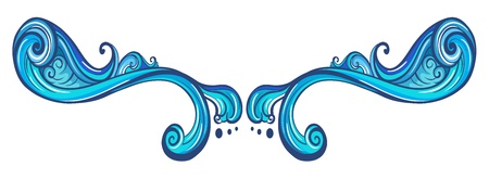 margen: Ilustración de un borde azul sobre un fondo blanco Vectores
