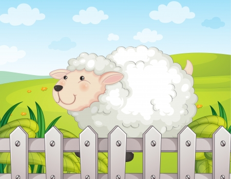 Illustration of a smiling sheep Vector