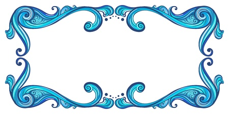 Illustration of a bold border on a white background Vector