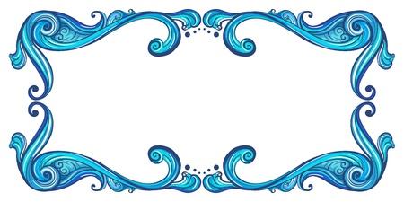 margine: Illustrazione di un bordo in grassetto su uno sfondo bianco