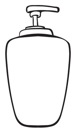dispenser: Illustration of a liquid container on a white background Illustration