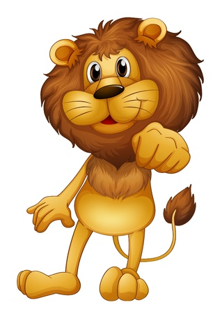 lions: Illustration of a lion standing on a white background