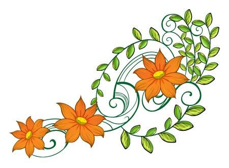 Illustration of a nice decoration on a white background Stock Vector - 17521468