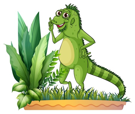 Illustration of a big reptile on a white background Stock Vector - 17522036
