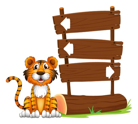 Illustration of the little tiger on a white background Stock Vector - 17521483