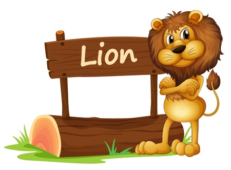 Illustration of a wild lion on a white background Vector
