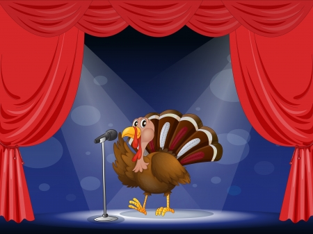 Illustration of a turkey in the limelight Stock Vector - 17524735