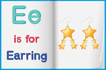 phonics: Alphabet worksheet for the letter E Illustration