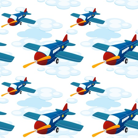 illustration of aeroplanes on a white background Stock Vector - 17662812