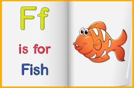 Alphabet worksheet for the letter F