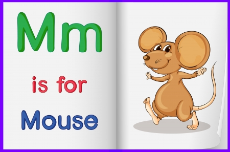 mouse pad: Alphabet worksheet for the letter M