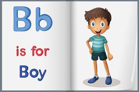 letter b: Alphabet worksheet for the letter B Illustration