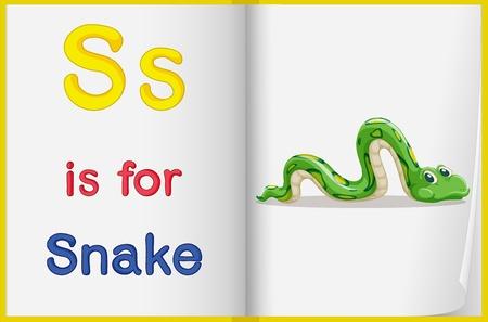 english language: Alphabet worksheet for the letter S