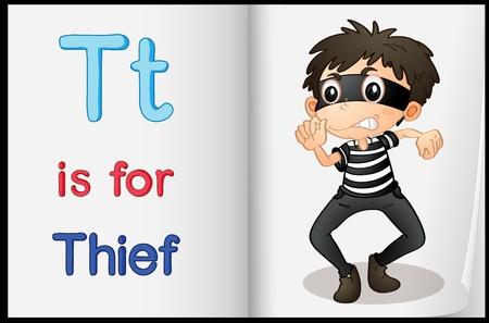 phonetics: Alphabet worksheet for the letter T