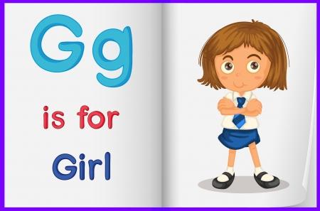 Alphabet worksheet for the letter G