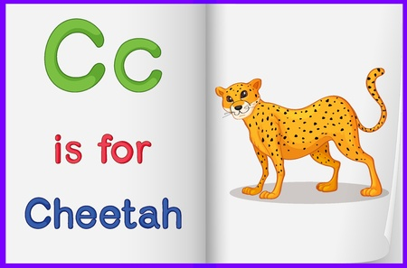 phonics: Alphabet worksheet for the letter C Illustration